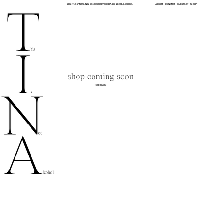 Shop - T.I.N.A DRINKS