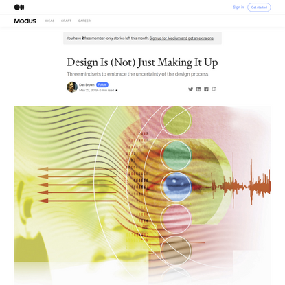 Design Is (Not) Just Making It Up