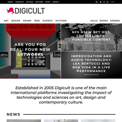 [:en]DIGICULT | Digital Art, Design and Culture | Since 2005[:it]DIGICULT | Digital Art, Design and Culture[:]