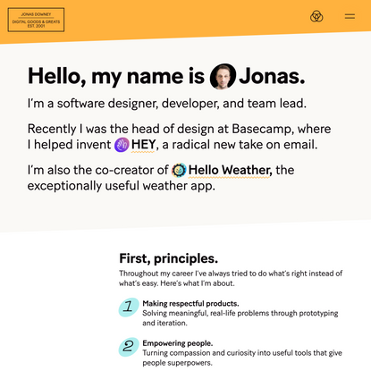 Jonas Downey — digital goods & greats