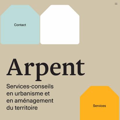 Arpent – Services-conseils en urbanisme et en aménagement du territoire