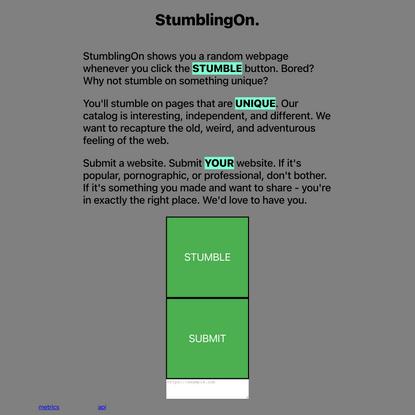StumblingOn