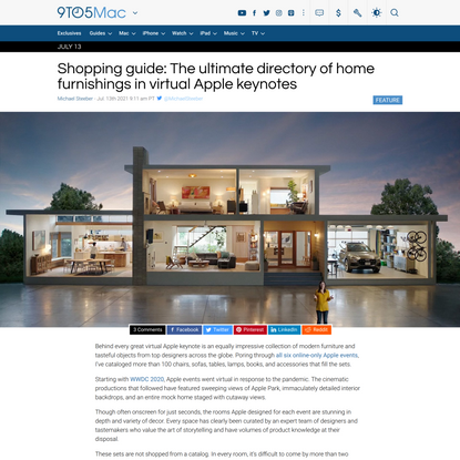 Shopping guide: The ultimate directory of home furnishings in virtual Apple keynotes