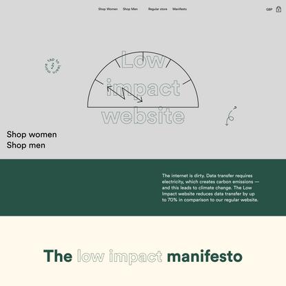 The Low Impact Website   Organic Basics
