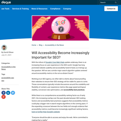 Will Accessibility Become Increasingly Important for SEO? | Deque