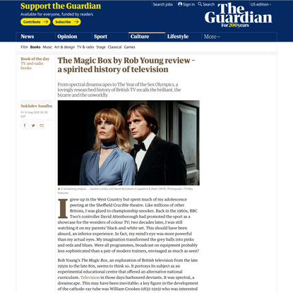 The Magic Box by Rob Young review – a spirited history of television