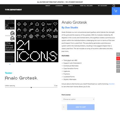 Analo Grotesk - Type Department
