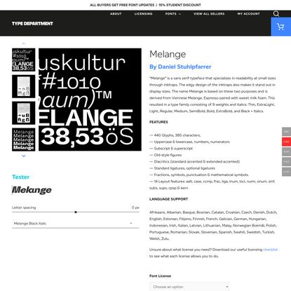 Melange - Type Department