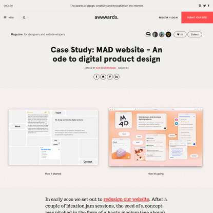 Case Study: MAD website - An ode to digital product design