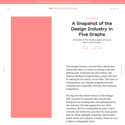 A Snapshot of the Design Industry in Five Graphs