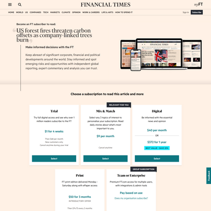 Become an FT subscriber to read | Financial Times
