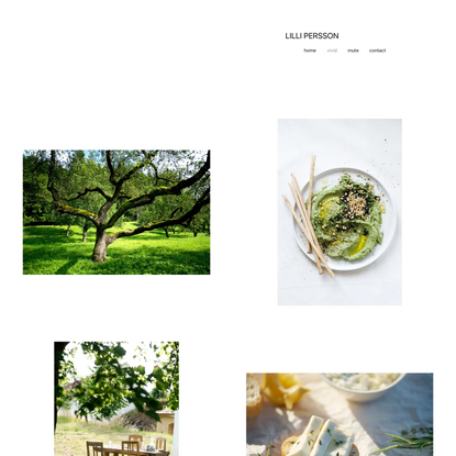 Photographer   Lilli Persson food and mood