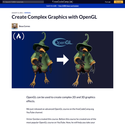 Create Complex Graphics with OpenGL