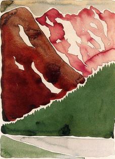 Georgia O'Keeffe,  Untitled (Long Lake), 1916 Watercolour on paper
