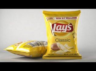 Part 1 : Cinema 4D paquet de chips - MODELISATION