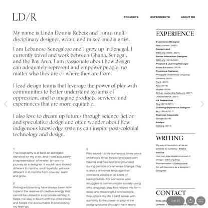 LD/R — ABOUT ME