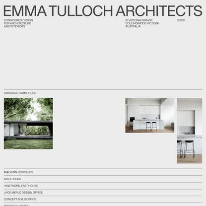 Emma Tulloch Architects