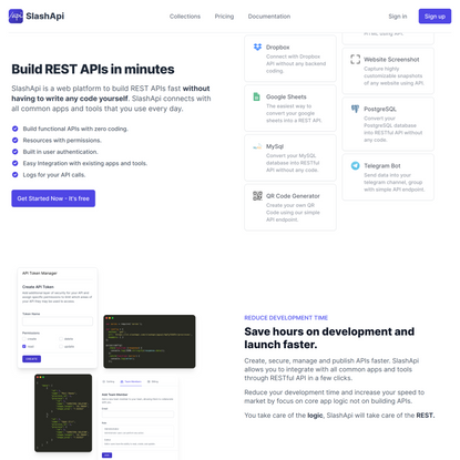 SlashApi - Build REST APIs in minutes