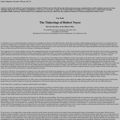 The Tinkerings of Robert Noyce
