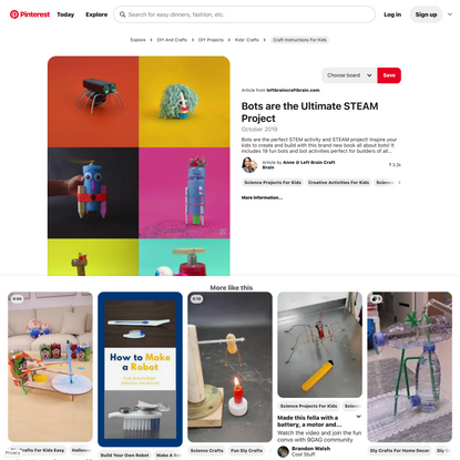 The Bot Book Creative STEM Projects for Kids [Video] [Video]   Science projects for kids, Stem projects for kids, Creative a...