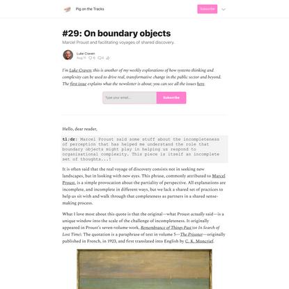 #29: On boundary objects