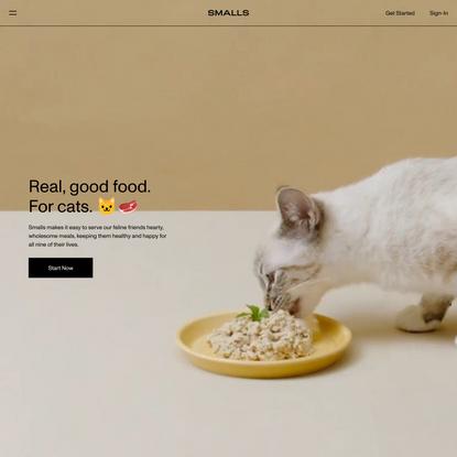 Human-Grade Fresh, Wet Cat Food | Smalls