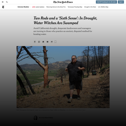 In California Drought, Water Witches are Swamped - The New York Times