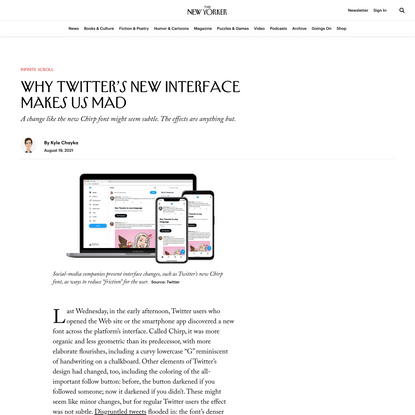 Why Twitter's New Interface Makes Us Mad