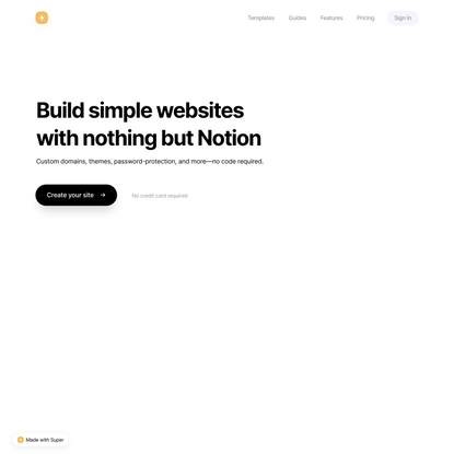 Super — Build websites with Notion