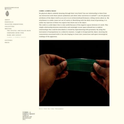Combs: A Simple Magic | Nontsikelelo Mutiti