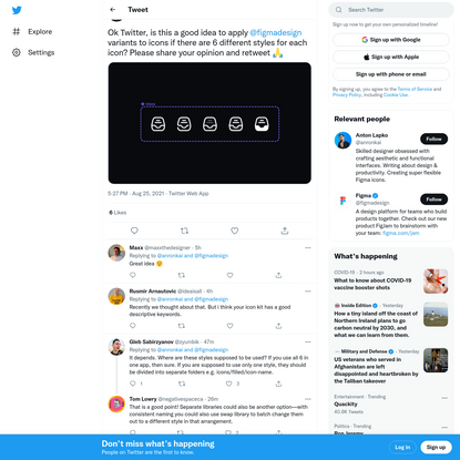 """Anton Lapko on Twitter: """"Ok Twitter, is this a good idea to apply @figmadesign variants to icons if there are 6 different st..."""
