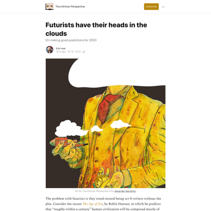 Futurists have their heads in the clouds