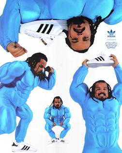 Kerwin Frost x Adidas Superstuffed
