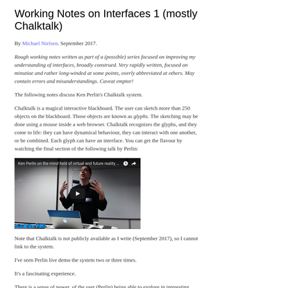 GOOD STUFF –– Working Notes on Interfaces 1 (mostly Chalktalk)