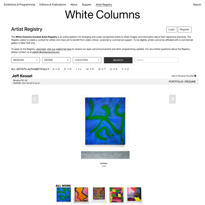 Artist Registry | White Columns