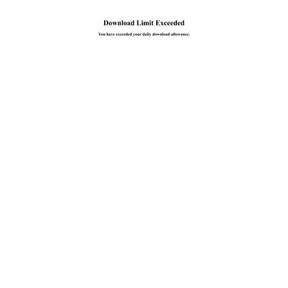 Download Limit Exceeded