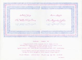 Concert poster by Marian Zazeela, La Monte Young and Marian Zazeela, DIA Art Foundation, 1981