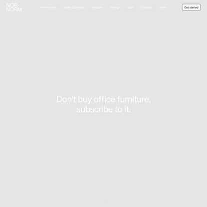 Why buy office furniture when you can subscribe to it? - NORNORM