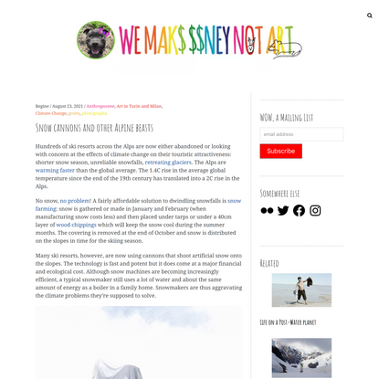 Snow cannons and other Alpine beasts