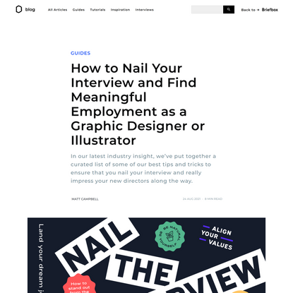 How to Nail Your Interview and Find Meaningful Employment as a Graphic Designer or Illustrator