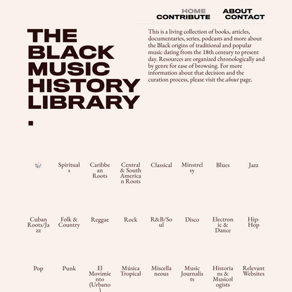 Library — Black Music History Library