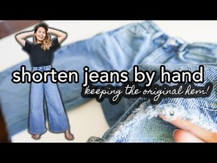 👖 Shorten Jeans by Hand & Keep the Original Hem! Easy way to take up jeans without a sewing machine