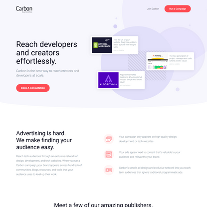 Reach Designers and Developers with Carbon Ads