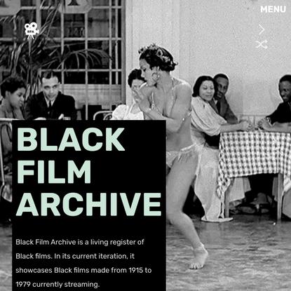 Black Film Archive
