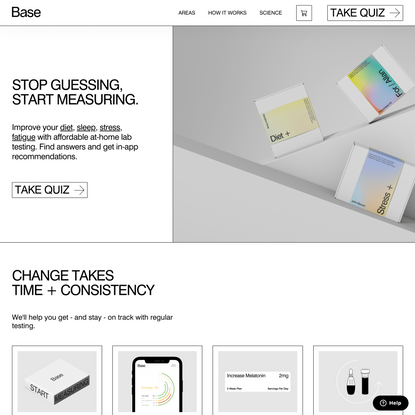 Base | At-home lab tests for Sleep, Stress, Energy, Diet and Sex Drive | get-base.com | Affordable, accessible