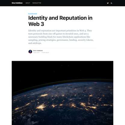 Identity and Reputation in Web 3