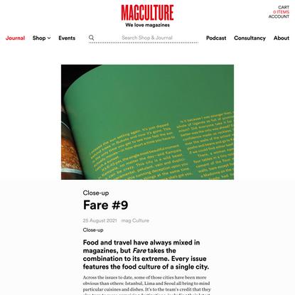Fare #9 — magCulture