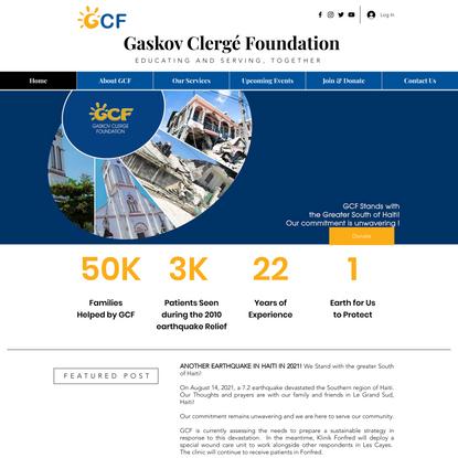 Home | GCF - Gaskov Clergé Foundation