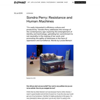Sondra Perry: Resistance and Human Machines - ELEPHANT