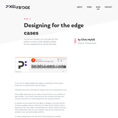 Designing for the edge cases | Pixel Fridge